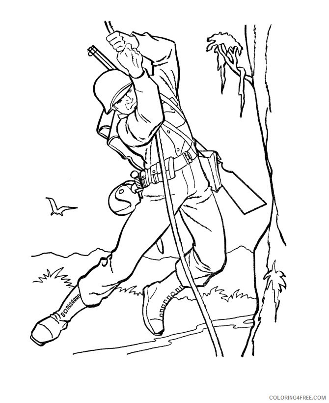 military coloring pages to print Coloring4free