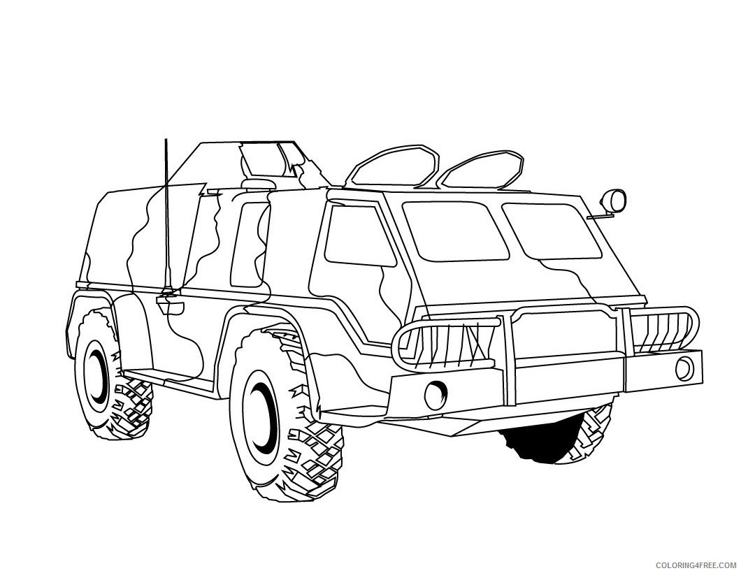 military truck coloring pages Coloring4free