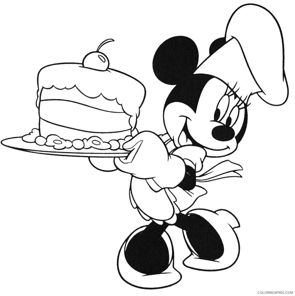 minnie mouse birthday coloring pages number two Coloring4free