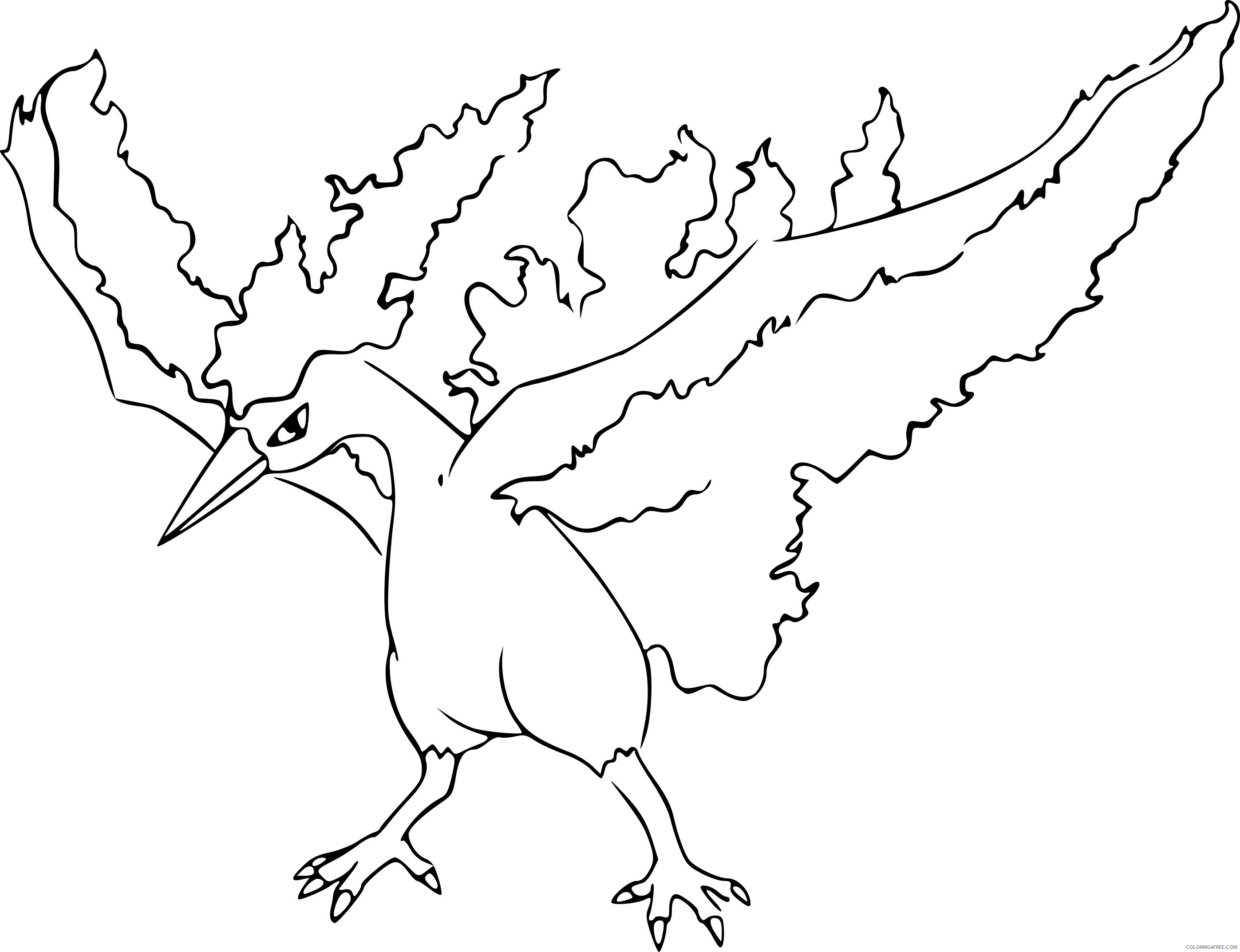 moltres legendary pokemon coloring pages Coloring4free