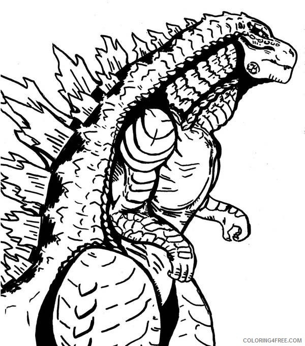 monster coloring pages godzilla Coloring4free