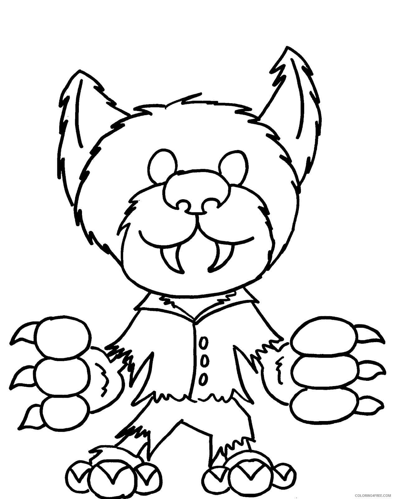 monster coloring pages werewolf Coloring4free