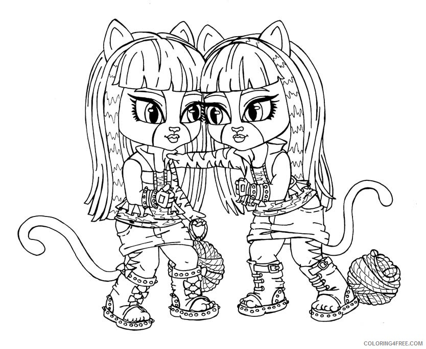 monster high baby coloring pages Coloring4free