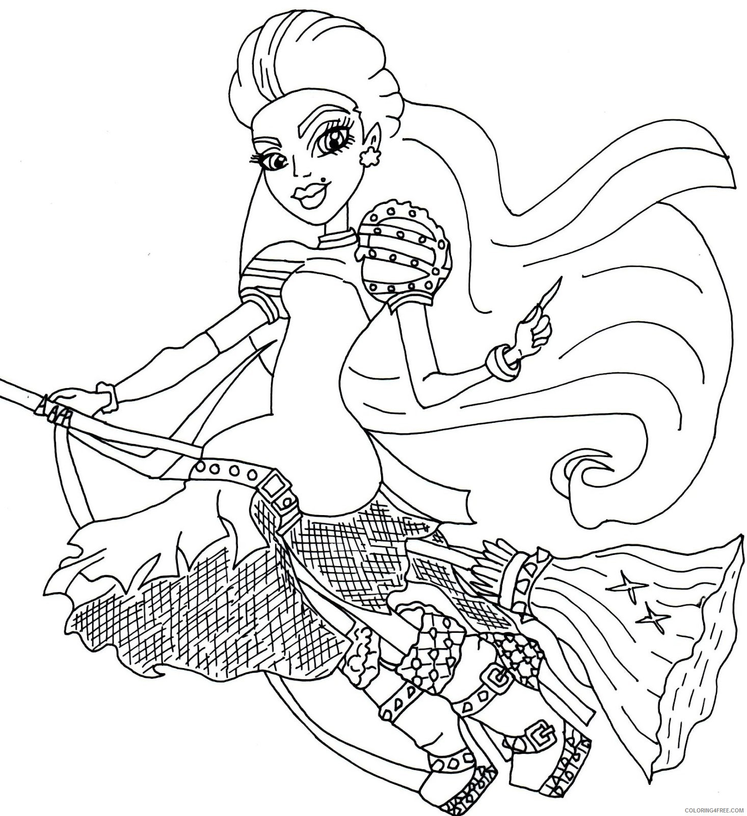 monster high casta fierce coloring pages Coloring4free