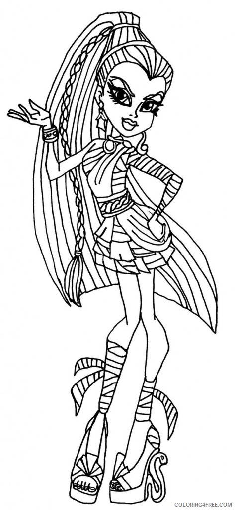 monster high cleo de nile coloring pages Coloring4free