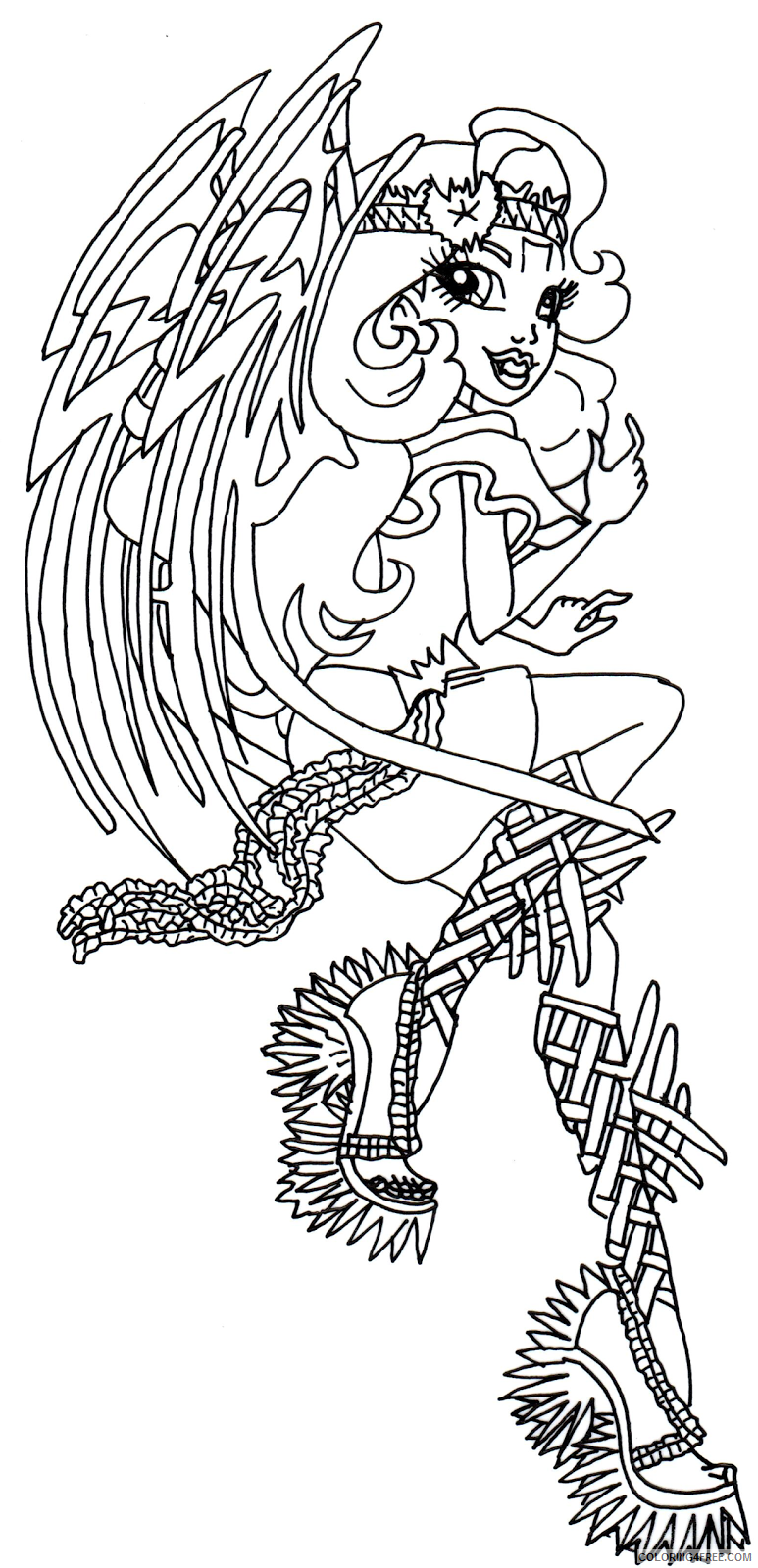 monster high coloring pages batsy claro Coloring4free