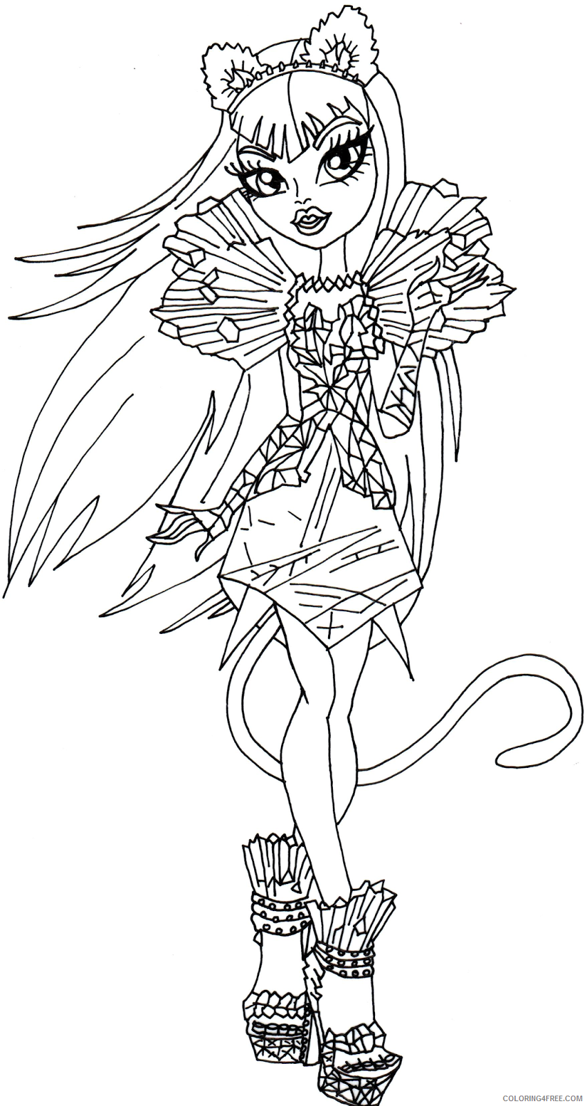 monster high coloring pages catty noir Coloring4free