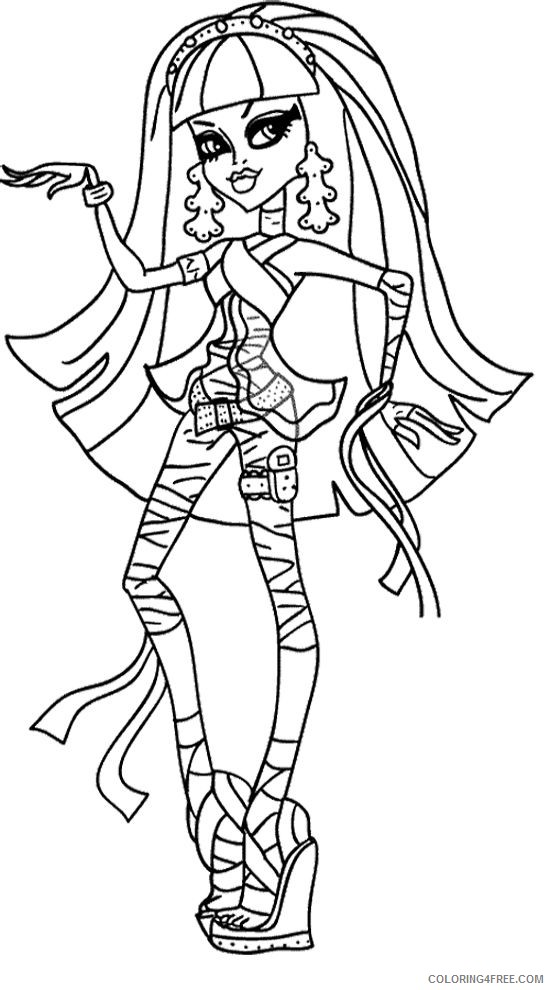 monster high coloring pages cleo de nile Coloring4free