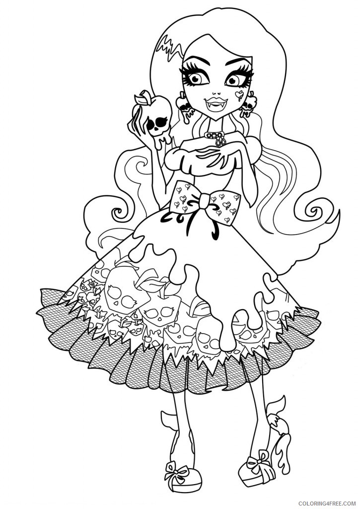 monster high coloring pages draculaura Coloring4free
