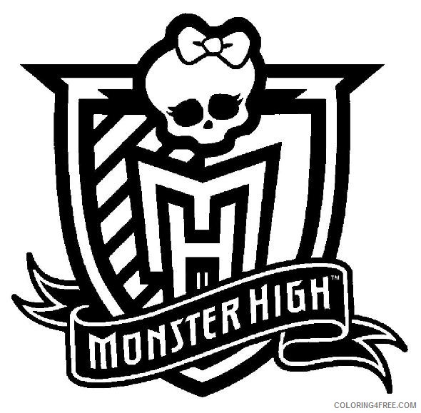 monster high logo coloring pages Coloring4free