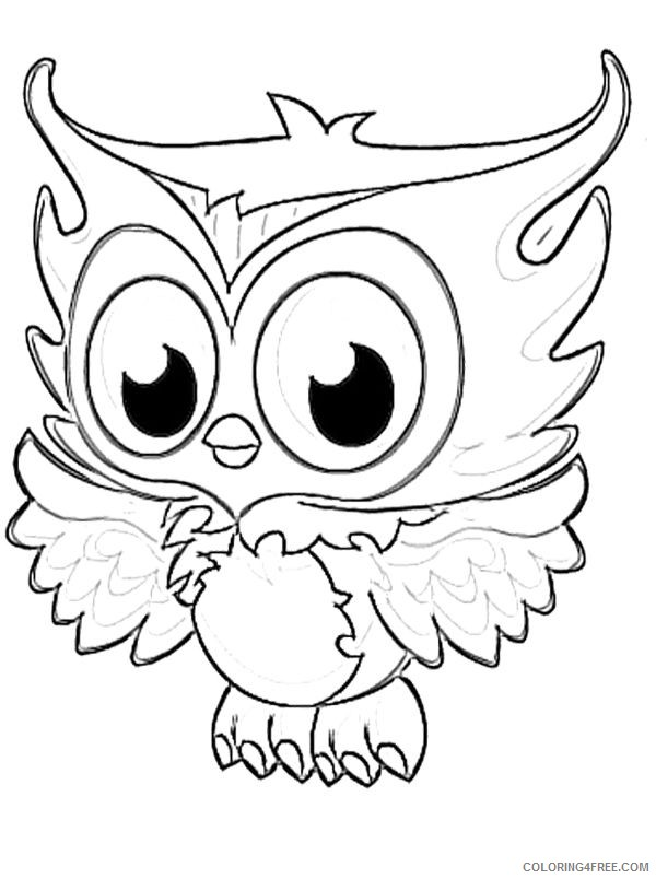 monster high pets coloring pages sir hoots a lot Coloring4free