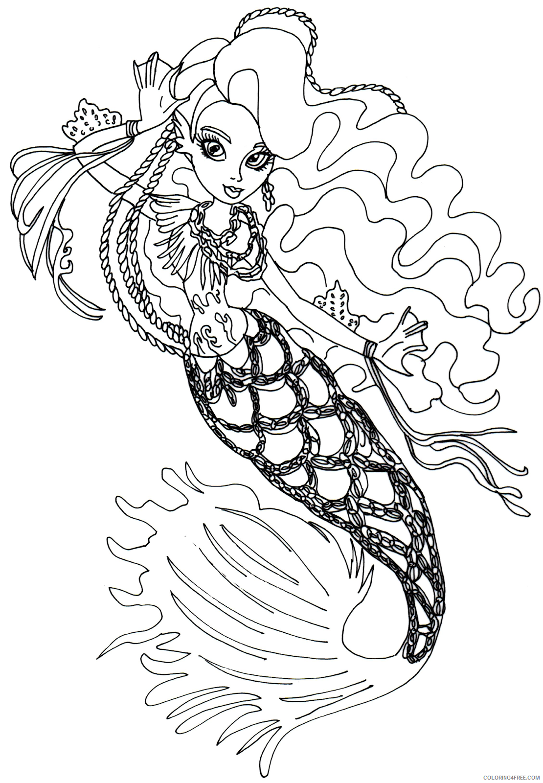 monster high sirena von boo coloring pages Coloring4free