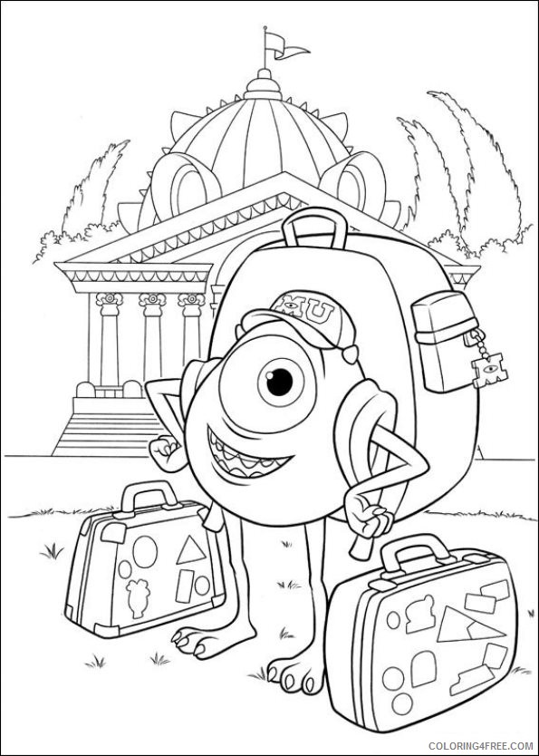 monsters inc coloring pages mike monster university Coloring4free