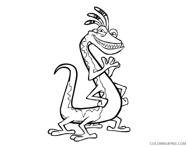 monsters inc coloring pages randall boggs Coloring4free