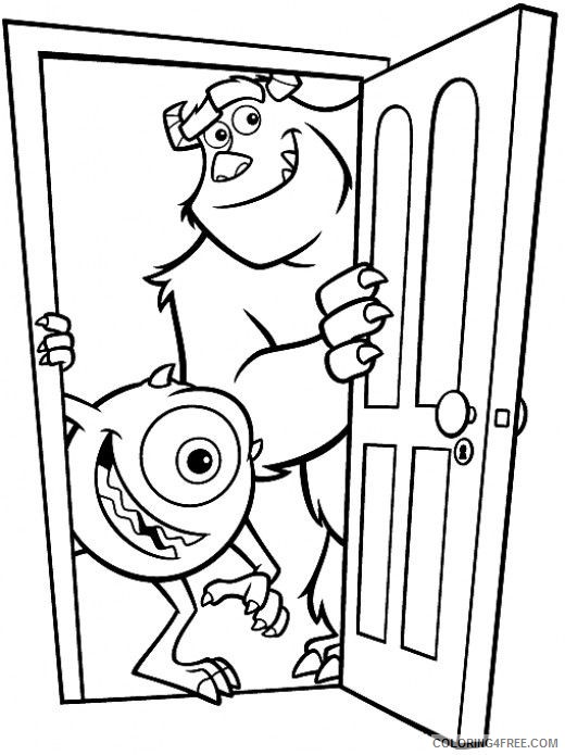 monsters inc coloring pages sullivan mike and sulley Coloring4free