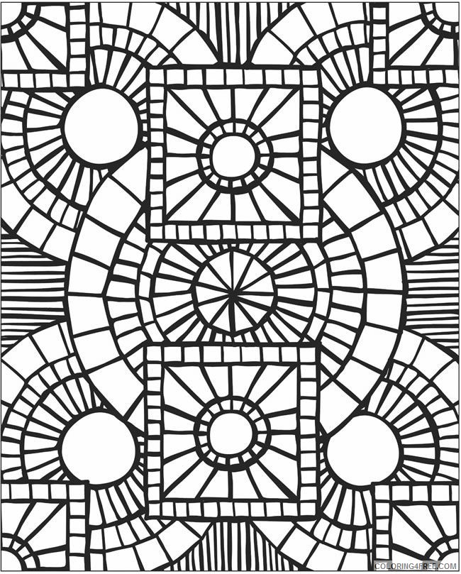 mosaic coloring pages for adults Coloring4free
