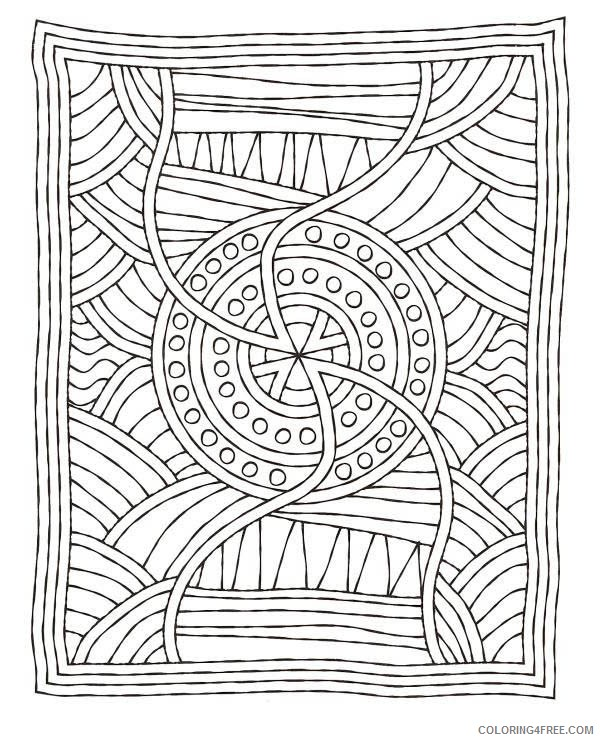 mosaic coloring pages for adults printable Coloring4free