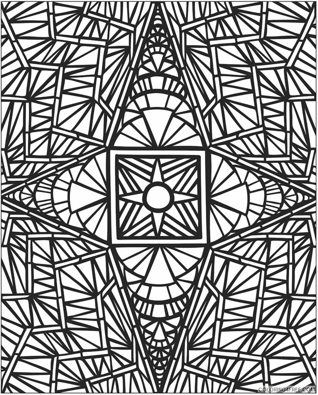 mosaic coloring pages hard Coloring4free