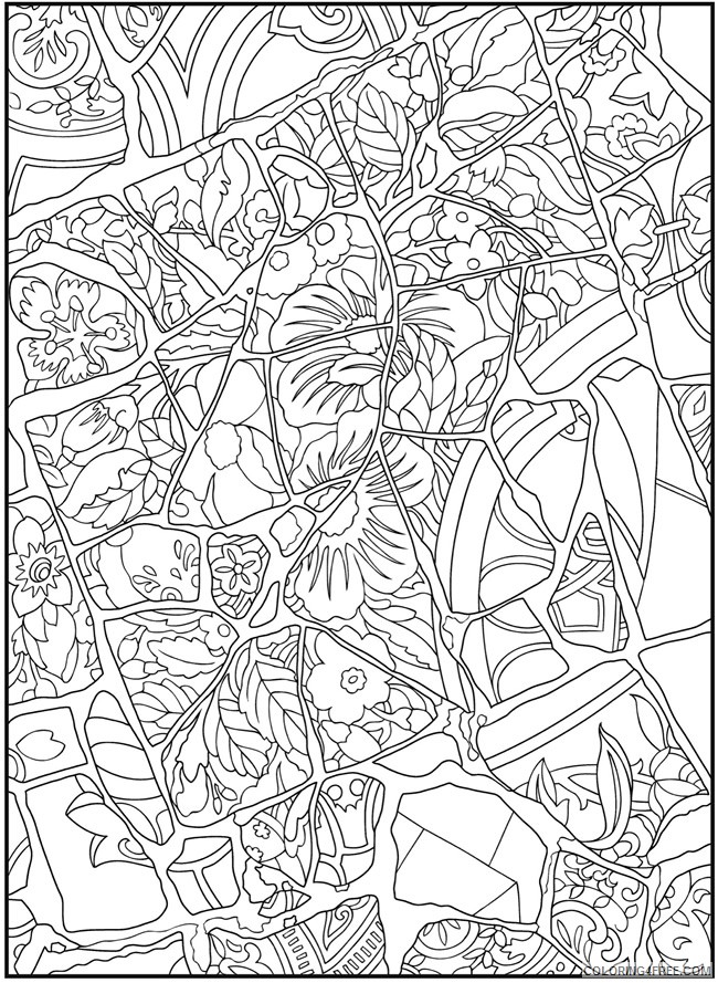 mosaic coloring pages nature Coloring4free