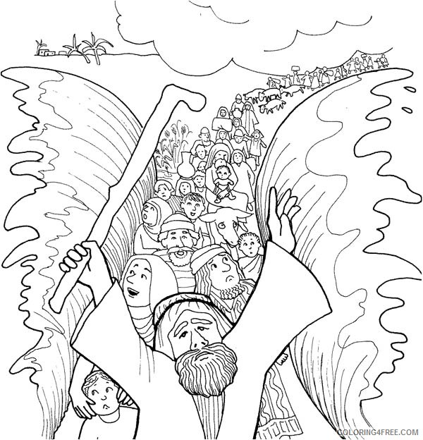 moses coloring pages and the exodus Coloring4free