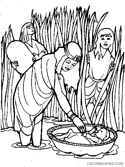 moses coloring pages bible story Coloring4free