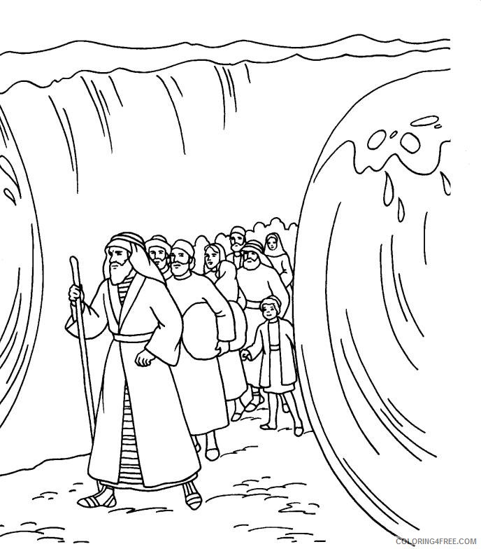moses coloring pages crossing the red sea Coloring4free