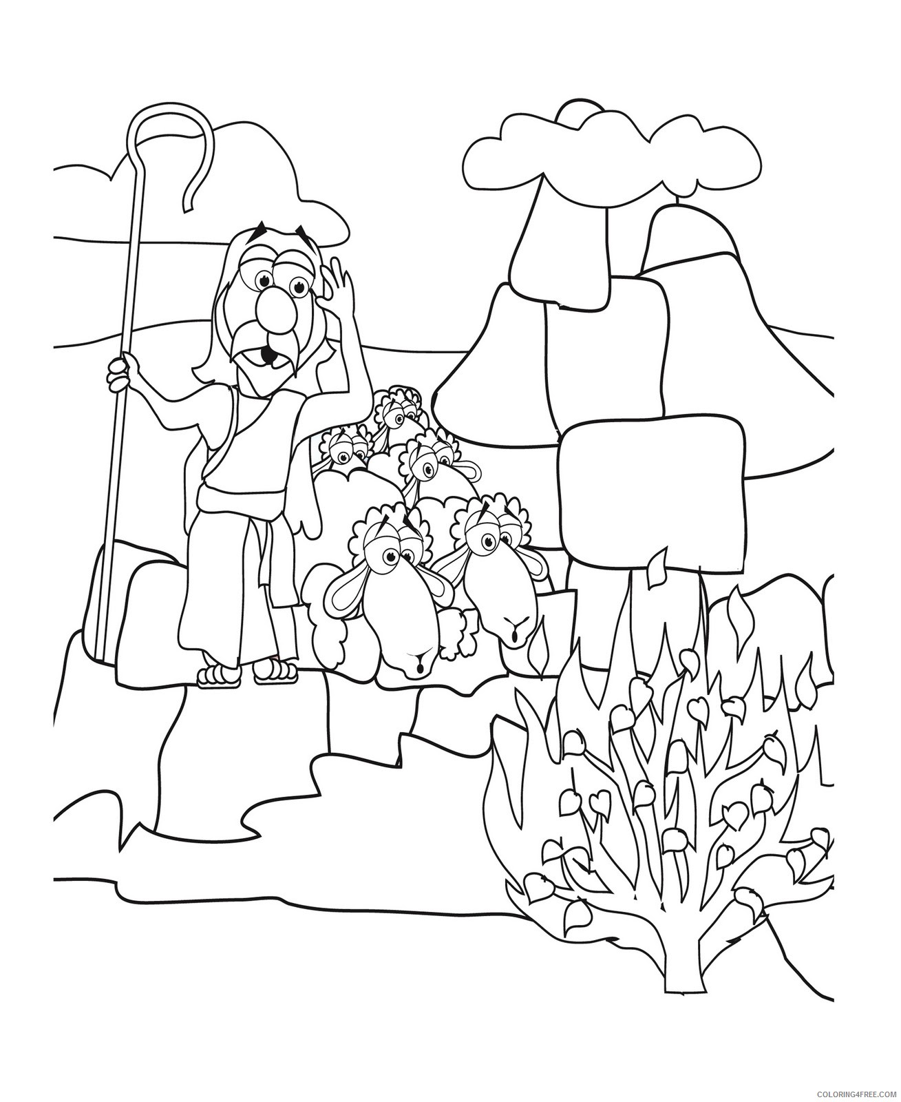 moses coloring pages for kids Coloring4free