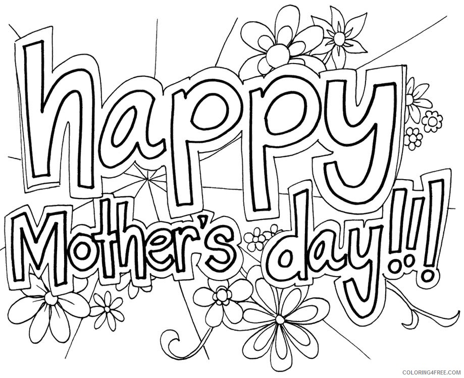 mothers day coloring pages for girls Coloring4free