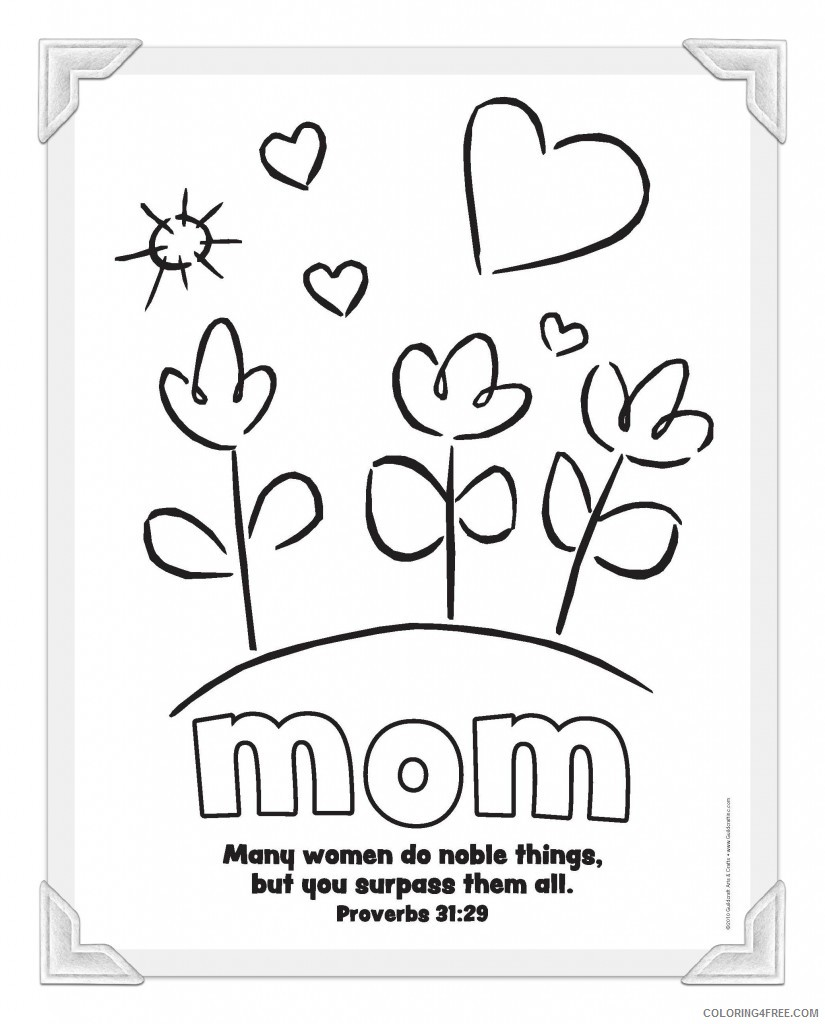 mothers day coloring pages to print Coloring4free