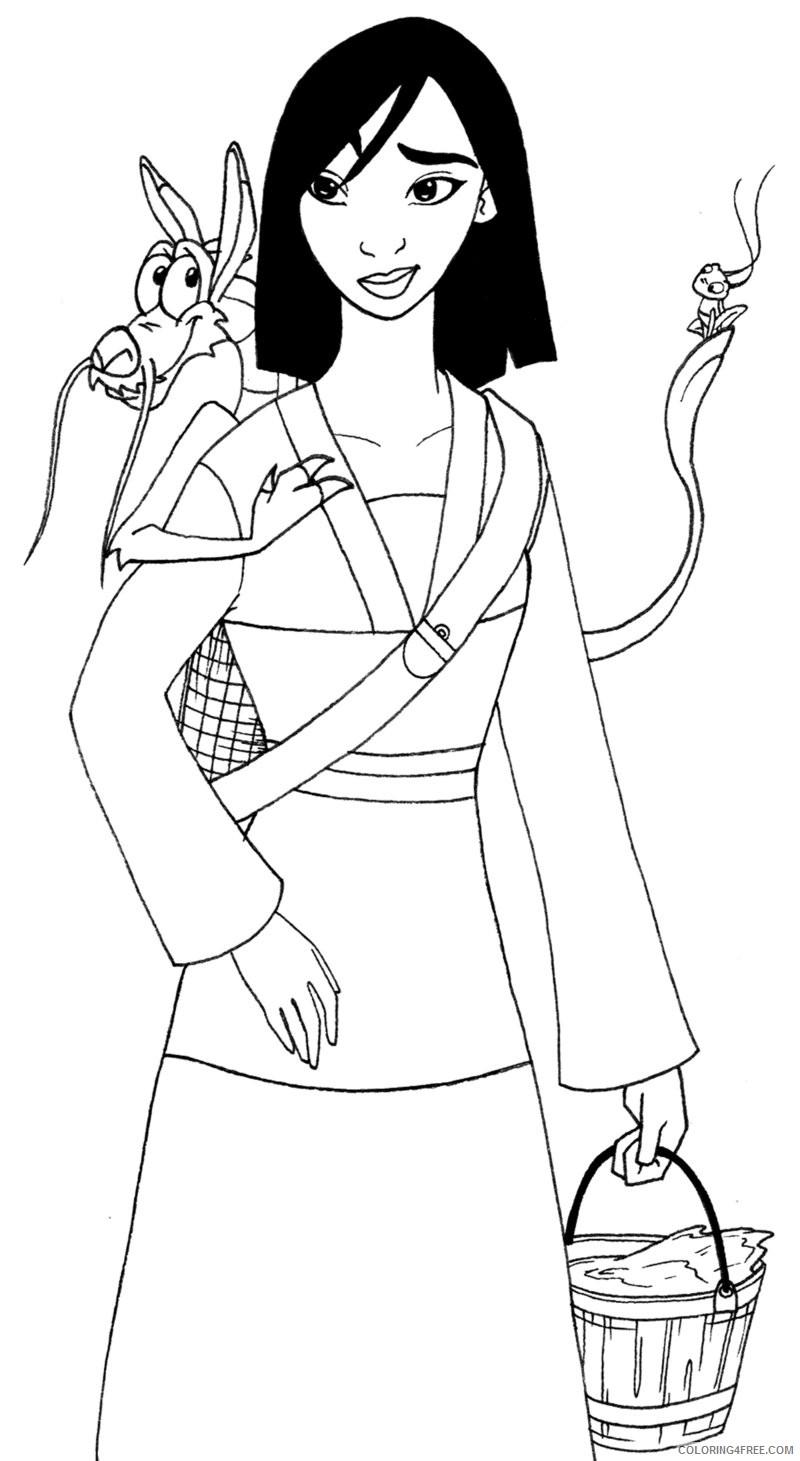 mulan coloring pages with mushu and cri kee Coloring4free