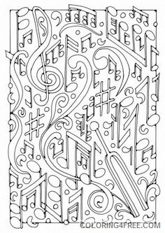 music coloring pages for adults printable Coloring4free