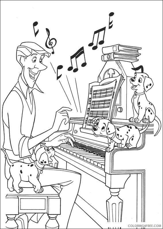 music coloring pages playing piano Coloring4free