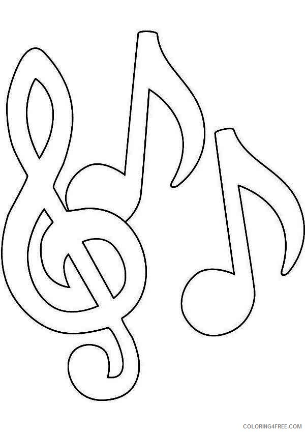 music notes coloring pages for kids Coloring4free