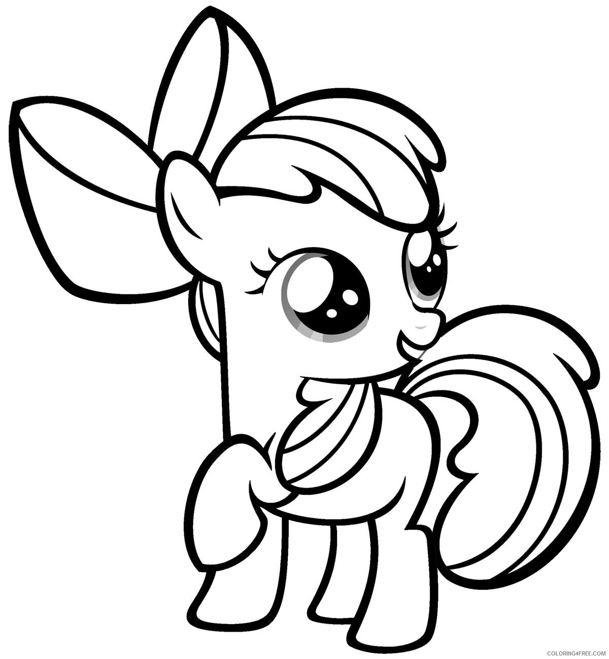 my little pony coloring pages apple bloom Coloring4free