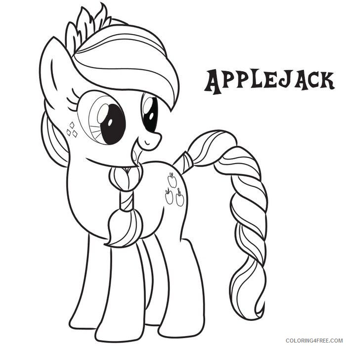 my little pony coloring pages applejack Coloring4free