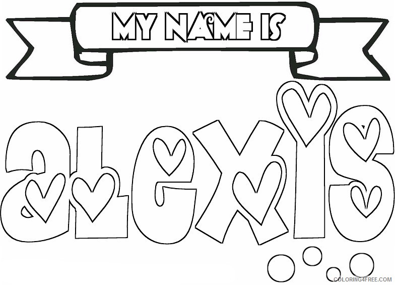 name coloring pages alexis Coloring4free