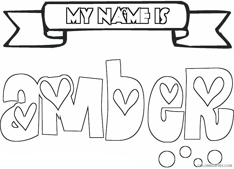 name coloring pages amber Coloring4free