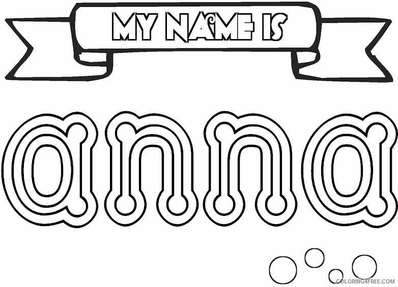 name coloring pages anna Coloring4free