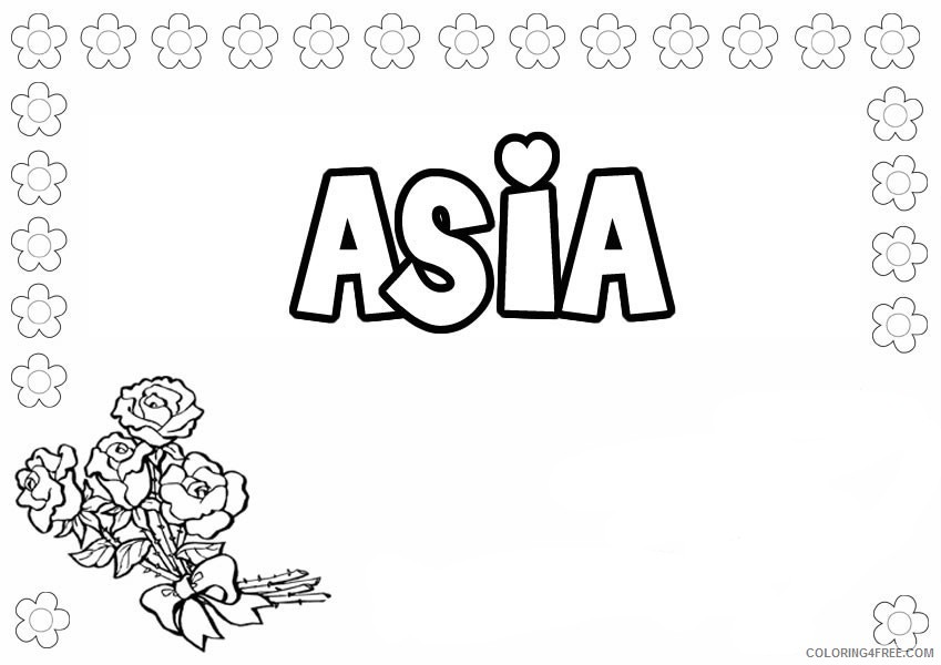 name coloring pages asia Coloring4free