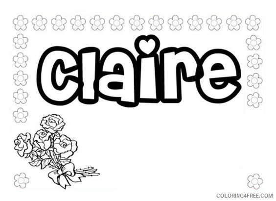 name coloring pages claire Coloring4free
