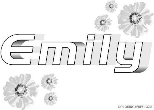name coloring pages emily Coloring4free