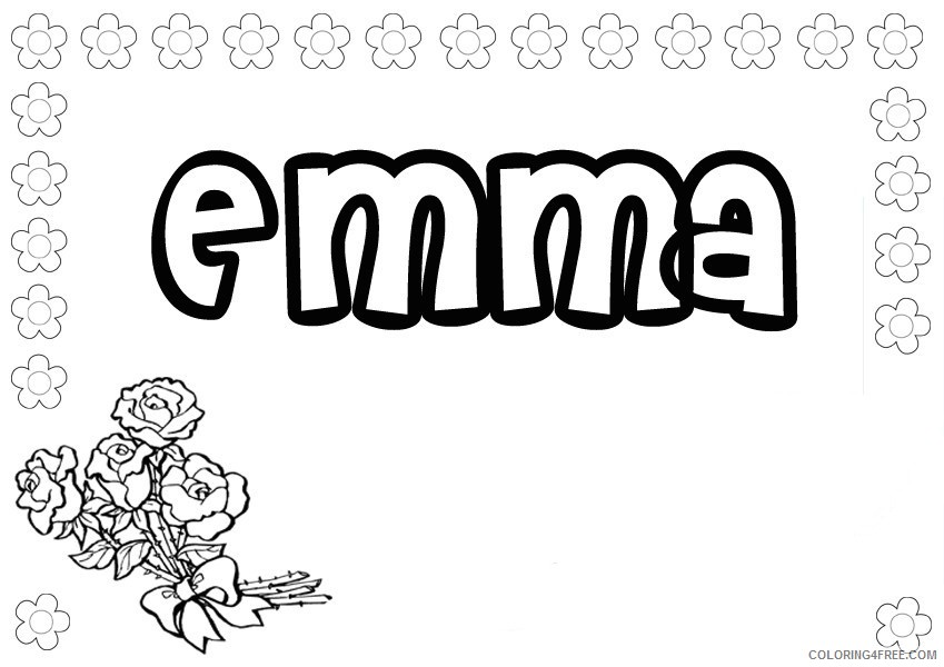 name coloring pages emma Coloring4free
