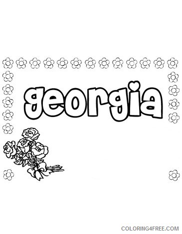 name coloring pages georgia Coloring4free