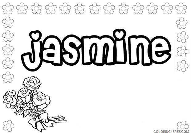 name coloring pages jasmine Coloring4free