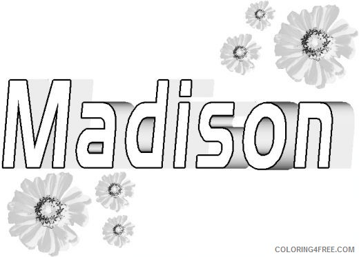 name coloring pages madison Coloring4free