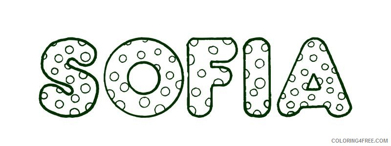name coloring pages sofia Coloring4free