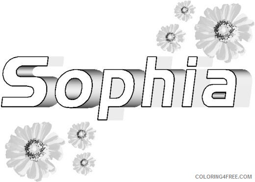 name coloring pages sophia Coloring4free