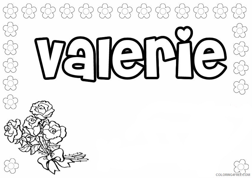name coloring pages valerie Coloring4free