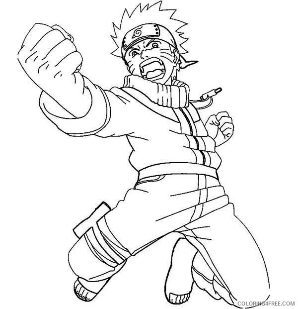 naruto coloring pages attacking Coloring4free