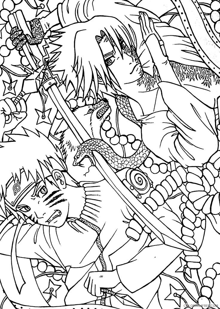 naruto coloring pages for adults Coloring4free
